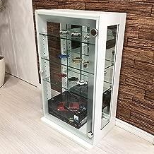 「DUET デュエット」ガラスコレクションケース ホワイト コレクション 背面ミラー ラック ボックス ガラスケース