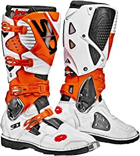 Sidi Crossfire 3 White Orange Boots, Motorcycle Boots