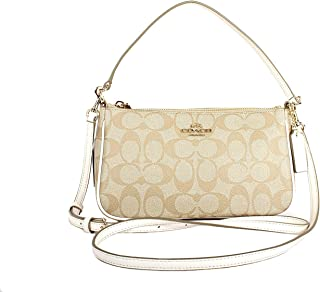 COACH Signature Coated Canvas Top Handle Crossbodle Pouch 47dfd7b1f2