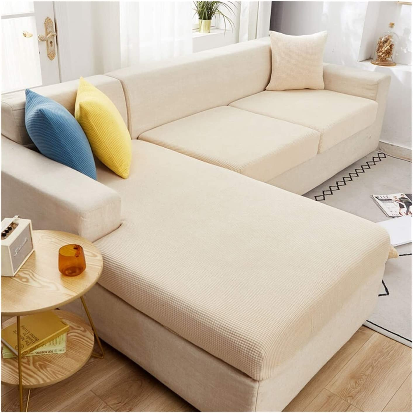 JPMSB Soft Max 64% OFF Plush Sectional Fort Worth Mall Corner Cushion Cover Couch Sofa Seat
