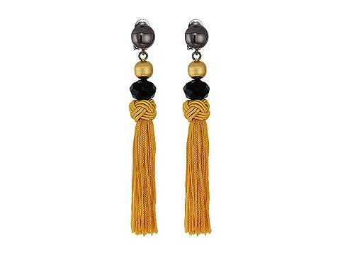 Oscar de la Renta Cord Tassel Earrings