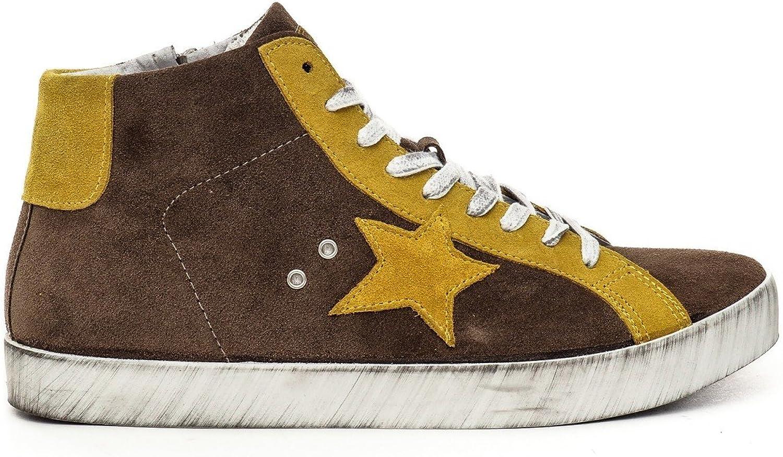 LANDEK PARK Sneaker 28 Mid Star - brown yellow, 42