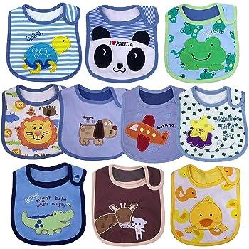 Baumwolle 6er Pack Baby Schlupf Lätzchen Klettverschluss abwaschbar wasserdicht