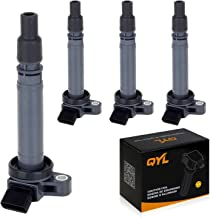 4Pcs Ignition Coil Pack Replacement for Toyota Celica Corolla Matrix Pontiac Vibe L4 1.8L 88970216 UF314 2ZZGE Engine