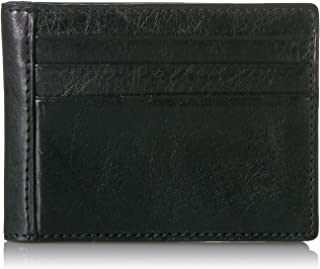 Men's Italian Bull Leather Express Bifold Credit Card Holder Wallet