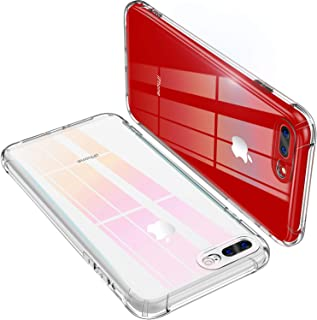 iPhone 8 Plus Case, iPhone 7 Plus Case, CANSHN Clear iPhone 7 Plus/ 8 Plus Case with Shock Absorption Technology Bumper Protective Case for iPhone 7 Plus (2016)/iPhone 8 Plus (2017) - Clear