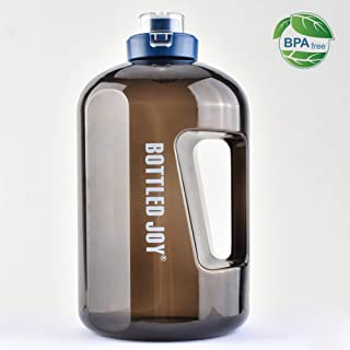 BOTTLED JOY 1 Gallon Water Bottle with Flip Top and Handle 138 Ounce