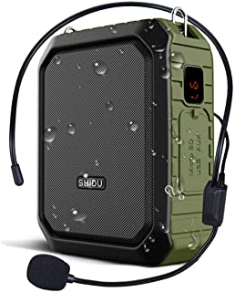 WinBridge Voice Amplifier with Microphone Headset Megaphone Clip Amp Portable Bluetooth Speaker Power Bank Waterproof IPX5 for Outdoors Activities, Teaching, Meetings, Training etc,Green