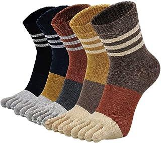 Calcetines Grueso de Algodón para Mujer Calcetines con Dedos Separados, Calcetines Térmicos Mujer Invierno, talla 35-41, 5 pares
