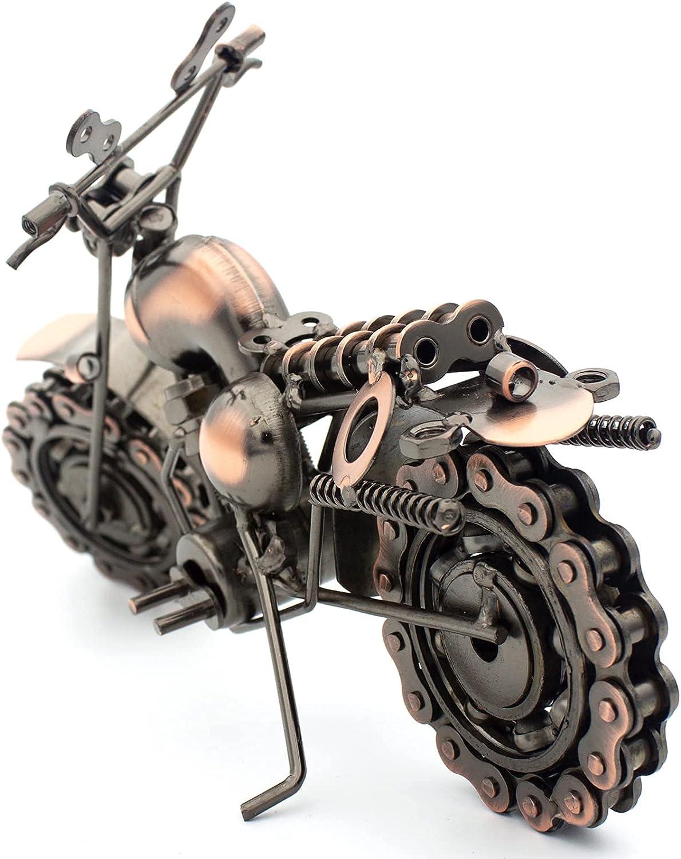 QIRLOEU Americana Vintage Home Decor Metal Motorcycle Model for ...