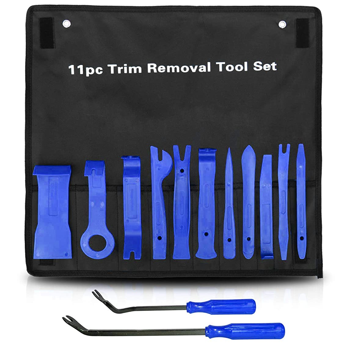 AiTrip 13 Pcs Auto Trim Removal Tool Set with Fastener Removers Strong Nylon Door Panel Tool Kit (Blue)