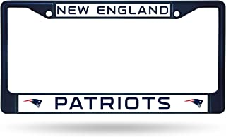 patriots license plate frame black