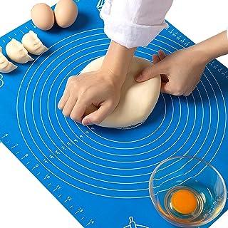 ginkano Tapis de pâtisserie en Silicone antidérapant et antidérapant (Blue, 50x40 cm)