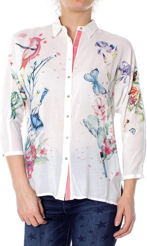 Desigual Women's 19SWCW23WHITE White Viscose Shirt