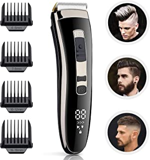 Xhaus Hair Clippers, Mens Professional Cordless Hair Trimmer Electric Haircut Kit, USB...