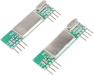 NOYITO RXB6 433Mhz RF Superheterodyne Wireless Receiver Module for Arduino CYT1002 (Pack of 2)