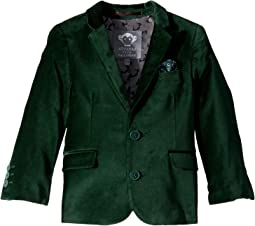 Extra Soft Velvet Blazer with Built in Pocket Square (Toddler/Little Kids/Big Kids)