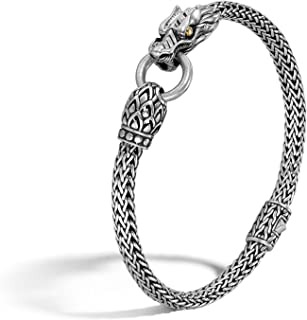 John Hardy Women's Legends Naga Gold & Silver Dragon Station Chain Bracelet, Size M
