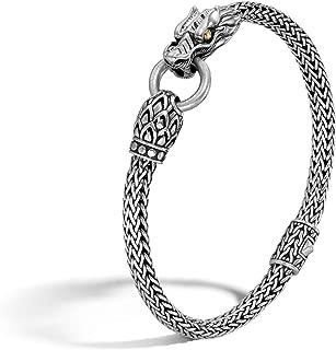 Women's Legends Naga Gold & Silver Dragon Station Chain Bracelet, Size M