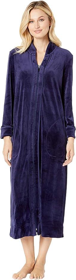 Plush Luxe Velour Long Zip Robe
