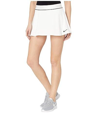 Nike Court Dry Skirt Flouncy (White/Black/Black/Black) Women