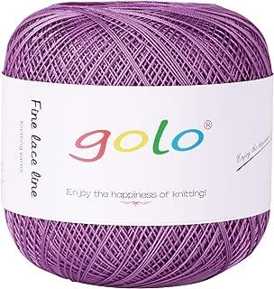 Golo Crochet Thread Size 10 for Hand Knitting(Violet)