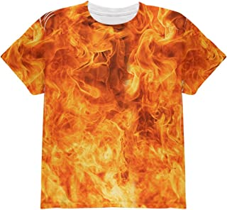 Flames Fire Costume Halloween All Over Youth T Shirt