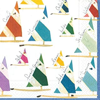 Entertaining with Caspari Set Sail Paper Luncheon Napkins, Pack of 20