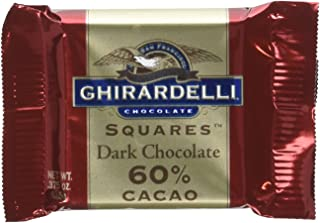 Ghirardelli 60% Dark Chocolate, 0.375-Ounce Packages (Pack of 540)