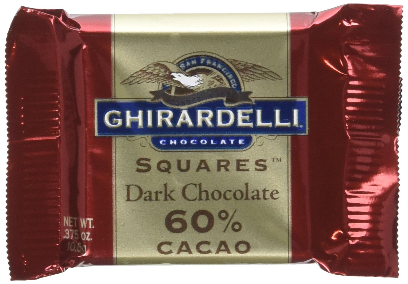 Max 56% OFF Ghirardelli 60% Dark Chocolate 0.375-Ounce 54 Packages of Max 67% OFF Pack