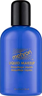 Mehron Makeup Liquid Face & Body Paint (4.5 oz) (Blue)