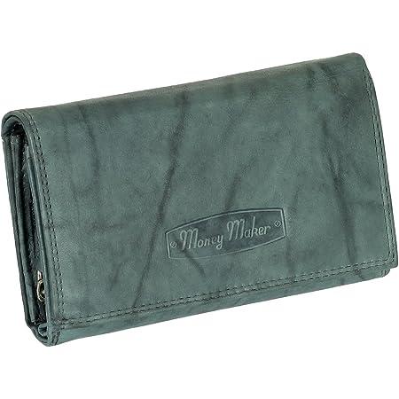 Ledershop24 RFID Damen Leder Geldbörse Damen Portemonnaie Damen Geldbeutel - Lang Blau-Grau Leder - Geschenkset + exklusiven Schlüsselanhänger