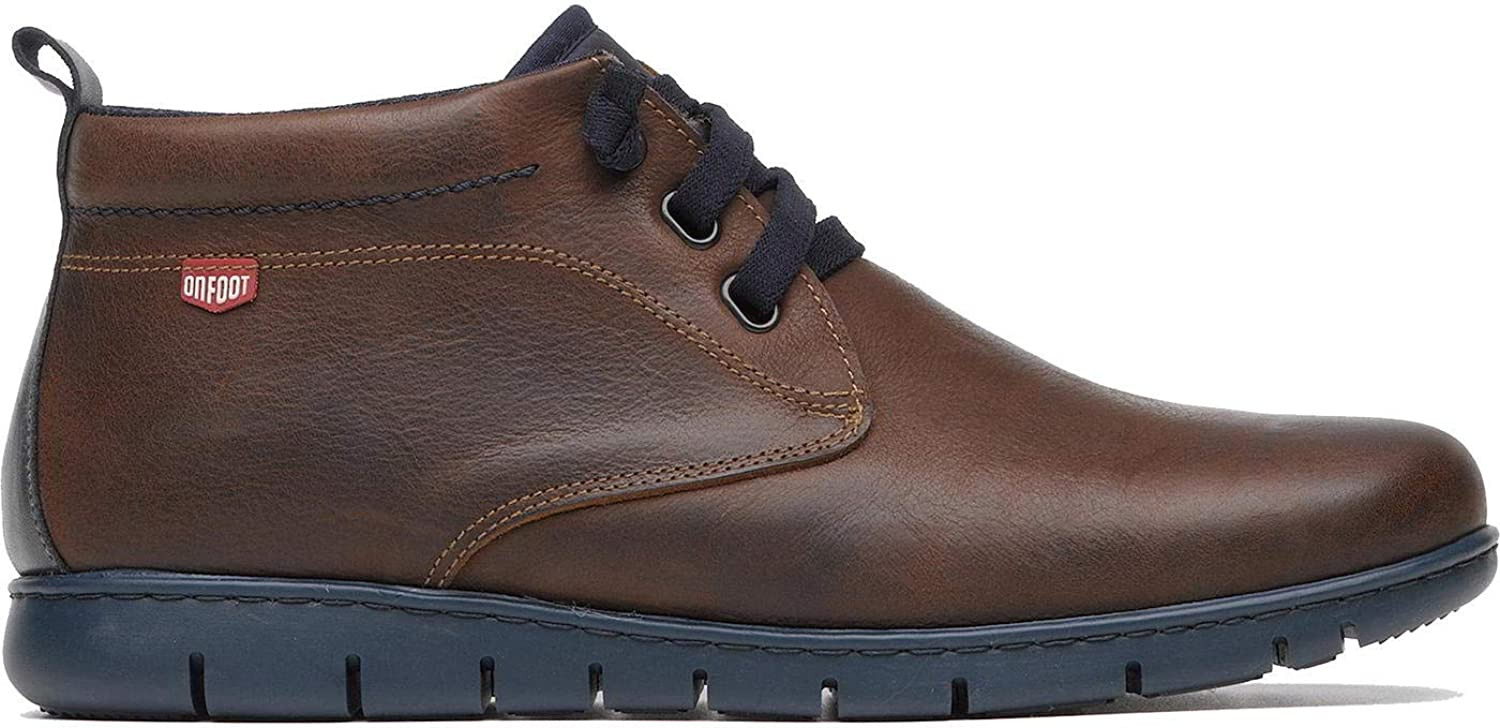 On Foot Safari Elasticos Mens Leather Chukka Ankle Boots