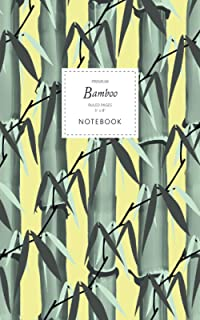 Bamboo Notebook - Ruled Pages - 5x8 - Premium: (Yellow Edition) Notebook 96 ruled/lined pages (5x8 inches / 12.7x20.3cm / ...