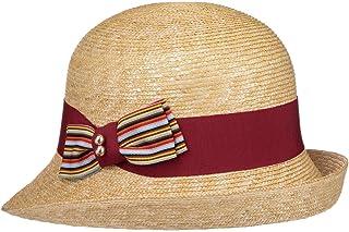 Lierys Cappello di Paglia Talipa Cloche Donna - Made in Italy Grano da Estivo con Nastro Grosgrain Primavera/Estate