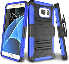 Galaxy S7 Case,TILL [Knight Armor] Heavy Duty Full-Body Rugged Holster Resilient Armor Case [Belt Swivel Clip][Kickstand] Combo Cover Shell for Samsung Galaxy S7 S VII G930 GS7 All Carriers [Blue]