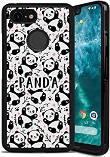 Case forGoogle Pixel 3 XL, Cute Cool Cover with Tire Pattern Soft Slim Designed Adorkable Panda Red Love Cartoon Panda Pattern