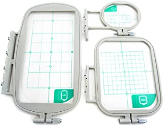 3-Piece Embroidery Hoop Set for Brother SE400 SE425 SE600 SE625 PE525 LB6800PRW Embroidery Machines