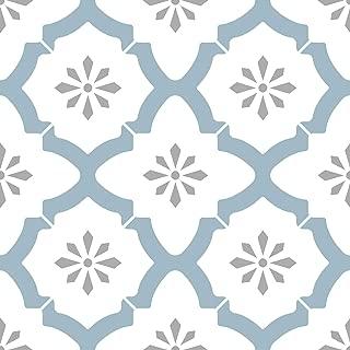 WallPops FP2943 Alfama - Azulejos de suelo autoadhesivos,