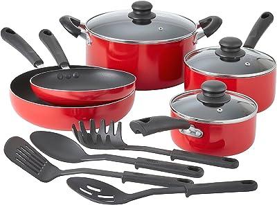 Amazon.com: Cookware set de ollas y sartenes antiadherentes ...