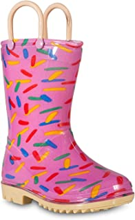 Lilly of New York Children's Rain Boots for Little Kids & Toddlers, Boys & Girls (3 Little Kid, Pink (Sprinkles))
