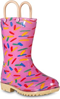 Lilly of New York Children's Rain Boots for Little Kids & Toddlers, Boys & Girls Pink Size: 3 Little Kid