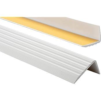Anthracite descalier-protection bande de bordure 200cm Nez de marche profil d/'angle PVC autoadh/ésif 50x40mm antid/érapant