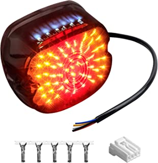 NTHREEAUTO Smoked LED Tail Light Brake Turn Signal Light Low Profile Taillights Compatible with Harley Road King,  Sportster 883 1200,  FXDL,  FLST,  Electra Road Glide,  Dyna