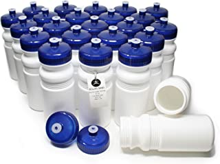 Rolling Sands 20 Ounce Sports Water Bottles 24 Pack, BPA-Free, Made in USA, Dishwasher Safe