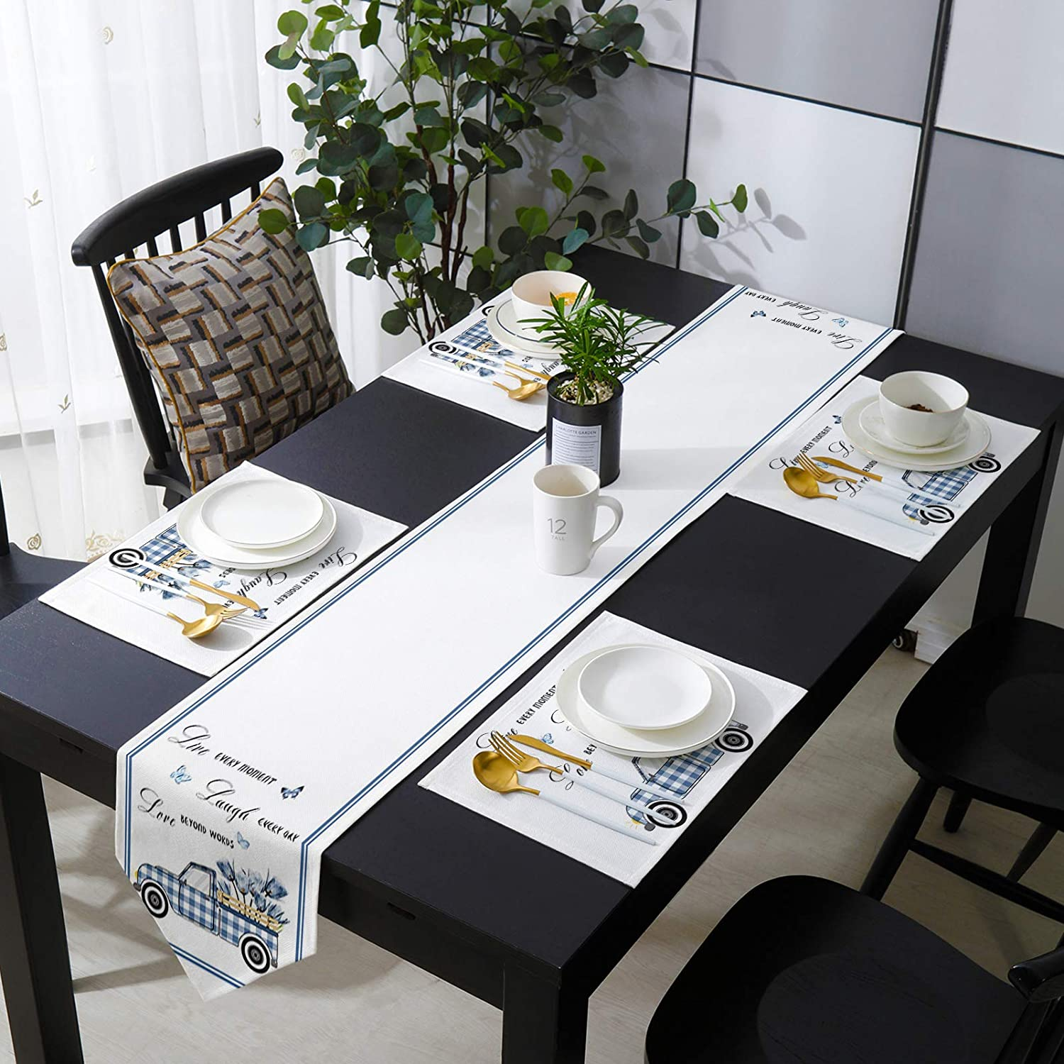 Placemats and 55% OFF Table Runner 13 x 90 Set Dining Pl Super sale period limited for inch Table-