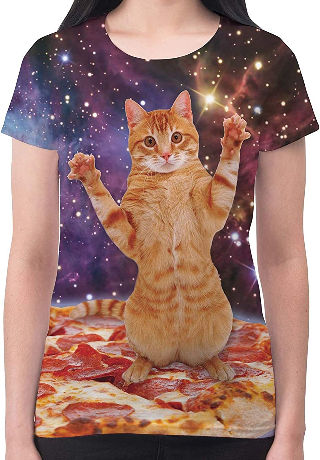 Cat Pizza Surf Beach Summer Funny Graphic Casual Tank Top 180 mv T Shirt S M L