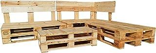 Conjunto de muebles con palets de Madera - Mobiliario Chill Out para Interior, Exterior, Terraza, Jardin, Patio
