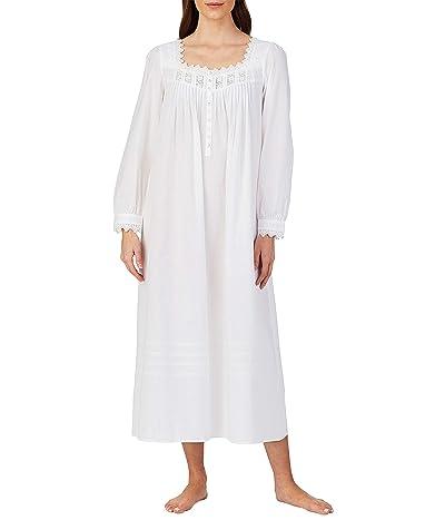 Eileen West Cotton Lawn Woven Long Sleeve Ballet Gown (White) Women