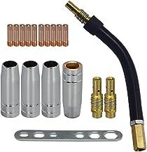 MIG MAG lasbrander slijtonderdelen set geschikt voor 15AK MB15 18 delen 4 x gassproeier 2 x mondstukstok 10 x stroommondst...